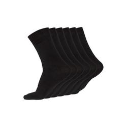 JARAQ Socken JARAQ Bambus Herren und Damen Strümpfe 6 Paar Schwarz (6-Paar) 39-42