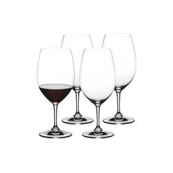 Nachtmann Rotweinglas ViVino Bordeauxglas Rotweinkelch 4er Set (4-tlg), Kristallglas