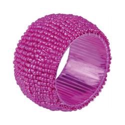 Bestlivings Serviettenring, Glasperlen, (1-tlg), Serviettenring, Handarbeit, Glasperlenring rosa