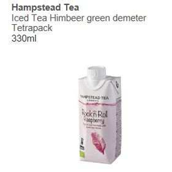 Iced Tea Himbeer green demeter Tetrapack 330ml - Hampstead Tea -