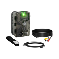 Wildkamera - 8 MP - Full HD - 42 IR-LEDs - 20 m - 0,3 s