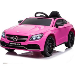 Kinder Elektro Auto Mercedes Kinderauto C63 AMG EVA Leder LED USB MP3 Pink