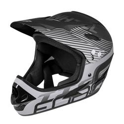 FORCE Fahrradhelm Downhill Tiger Helm schwarz S - M