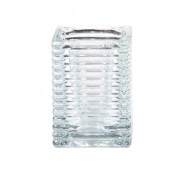 Kerzenglas für Refill Kerzen / Teelichteinsatz, Transparent, 72x72 mm/H 98 mm, 1 Stück