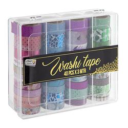 Washi Tape Set XL, 40 Stück Deko-Bastelsets bunt