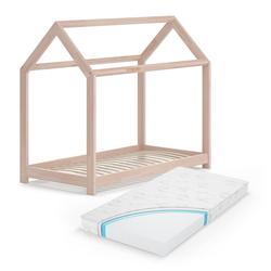 VitaliSpa® Kinderbett Hausbett WIKI Weiß Kinderbett Kinder Bett Holz Matratze