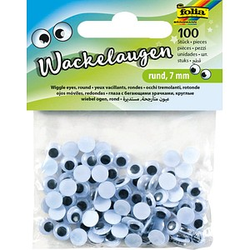 folia Wackelaugen 7,0 mm 100 St.