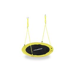 relaxdays Nestschaukel Nestschaukel 110 cm gelb