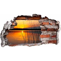Wandtattoo Sonnenuntergang am See 100 cm x 54 cm