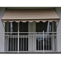 Angerer Freizeitmöbel Klemmmarkise, beige, Ausfall: 150 cm, versch. Breiten beige Klemm-Markisen Markisen Garten Balkon Klemmmarkise