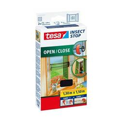 Fliegengitter tesa Insect Stop 1,5x1,3m zum Öffnen und Schließen anthrazit