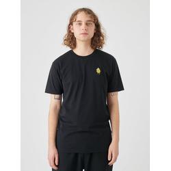 Cleptomanicx T-Shirt Zitrone Zitrone-Stickerei auf der Brust schwarz XL