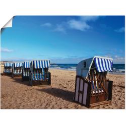 Artland Wandbild Strandkörbe, Strand (1 Stück) 80 cm x 60 cm