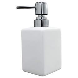 kueatily Seifenspender Seifenspender, quadratischer 320 ml Cassic Seifenspender für Küche und Bad weiß