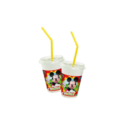 Procos Kinderbecher Milchshake Becher Mickey Mouse Club House, 8 Stück