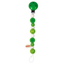 Goki 32440 - Schnullerkette Perlen grün Holz