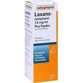 Ratiopharm LAXANS-ratiopharm 7,5 mg/ml Pico Tropfen 30 ml