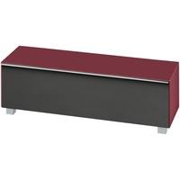Maja Möbel 7736 Soundboard Glas himbeerrot matt/Akustikstoff schwarz