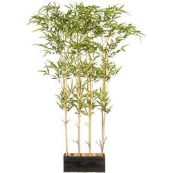 Künstliche Zimmerpflanze »Bambusraumteiler« (1 Stück), Kunstpflanzen, 69399046-0 grün H: 130 cm grün