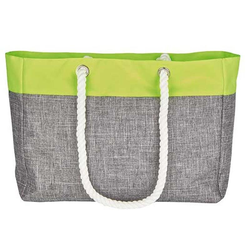 Shopping Bag – San Diego | bags2GO Grey-Melange/Neon-Yellow