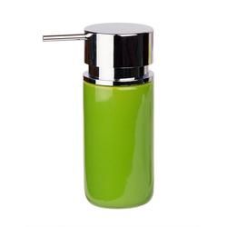 WENKO Spülmittelspender Silo grün modern Seifenspender 250 ml aus Keramik 6,2x16,5x6,2cm