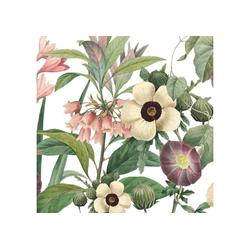 anna wand Bordüre Wildblumen rosa/grün auf weiß - selbstklebend, floral, selbstklebend