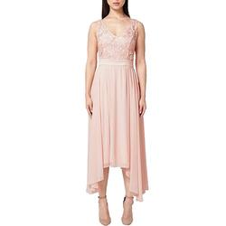 s.Oliver Partykleid s.Oliver BLACK LABEL Party-Kleid elegantes Damen Ausgeh-Kleid Abend-Kleid mit V-Ausschnitt Rosa