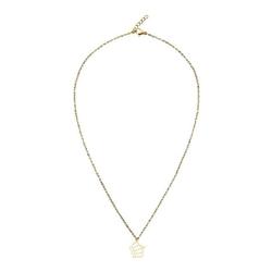 Halskette - vergoldet - Krone