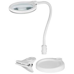 LED Arbeitsleuchte als Stand- oder Klemm-Lupenleuchte, 5W mit 30 SMD LED und flexiblem Schwanenhals