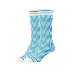 Fun Socks Socken Lurex (2-Paar) mit tollem Wellenmotiv