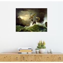 Posterlounge Wandbild, Ein erstklassiger Kriegsschiff läuft auf 90 cm x 70 cm