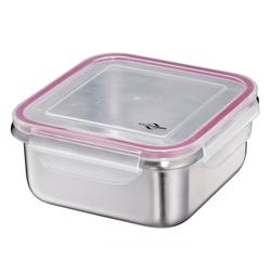 KÜCHENPROFI Lunchbox Brotdose aus Edelstahl 19 x 19 cm 1,7 Liter