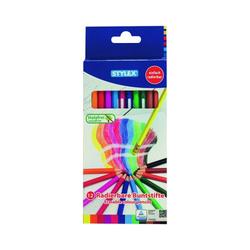 12 Radierbare Buntstifte von Stylex, holzfrei