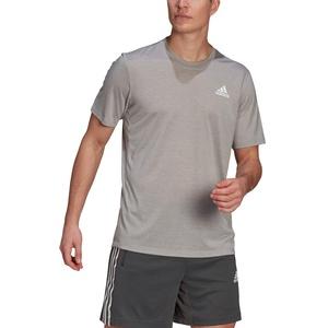 ADIDAS HERREN PRIME HT T-Shirt - medium grey heather/white