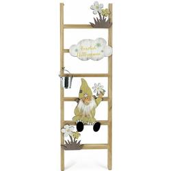 NOOR LIVING Dekoleiter Zwerge (1 Stück), Standdeko für den Eingangsbereich, Höhe ca. 60 cm beige