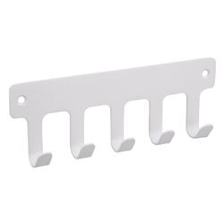 SOSmart24 Handtuchhalter Handtuchhaken Weiß Matt 5-fach aus Metall - Handtuchhalter Bad und WC