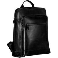 LEONHARD HEYDEN Dakota Rucksack Leder 40 cm Laptopfach schwarz