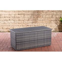 CLP Auflagenbox Comfy, Poly-Rattan Auflagenbox, Gartentruhe für Kissen und Auflagen grau