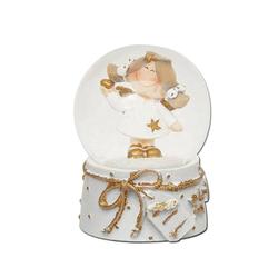 Dekohelden24 Schneekugel Mini-Schneekugel mit Engel, Motiv über Dropdown-Me (1 Stück)