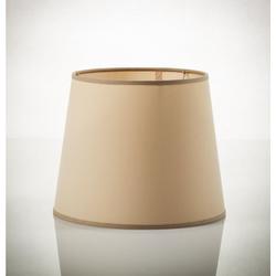 Licht-Erlebnisse Lampenschirm WILLOW Großer Lampenschirm für Pendelleuchte Stoff Cappuccino Hängelampe Lampe
