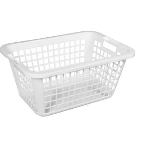 Wäschekorb 65 -Serie Favorit-, aus Kunststoff, Maße: 65 x 43 x 26 cm, weiß