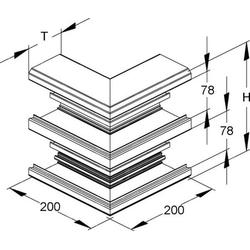 Niedax Alu-Außeneck DAA 220-78 P