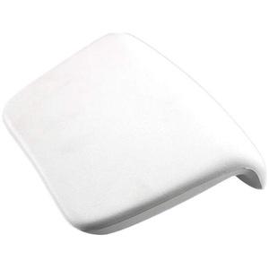 VOSAREA Badewannenkissen Badekissen Kissen mit Saugnäpfen Spa Kopfstütze für Entspannung (weiß)
