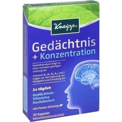 KNEIPP Gedächtnis+Konzentration Kapseln 30 St