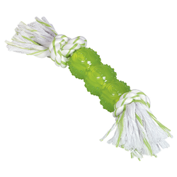 Nobby Hundespielzeug TPR Stick mit Seil
