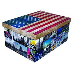 KREHER Aufbewahrungsbox USA bunt