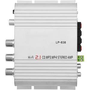 VIFER Mini Verstärker Stereo Bass Auto Auto Home Audio Leistungsverstärker Digital Amp Mini HiFi 2.1(Silber)