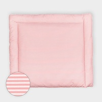 KraftKids Wickelauflage Streifen rosa, extra Weich (500 g/qm), mit antiallergenem Vlies gefüllt 60 cm x 70 cm