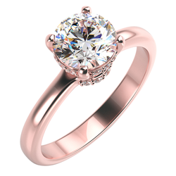 Glänzender Verlobungsring mit Moissanit 0.75ct und Diamanten Lina