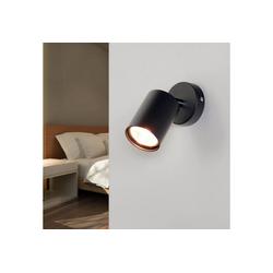 Licht-Erlebnisse Wandleuchte EYE Moderne Wandlampe Grau Strahler verstellbar Spot Leselampe Bett Sofa Lampe